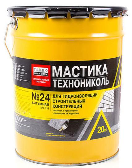 Мастика битумная ТЕХНОНИКОЛЬ №24 (МГТН) гидроизоляционная (20 кг)