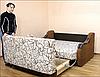 Диван раскладной Адель-1,2 ткань Шотландия Браун и Однотон (Катунь ТМ), фото 2