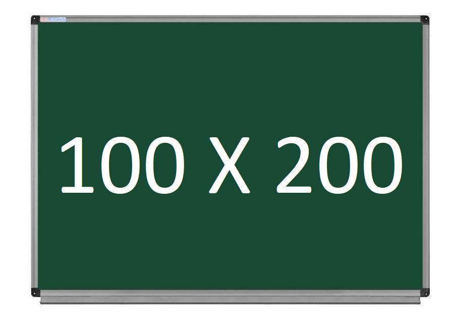 Шкільна дошка магнітно-крейдяна в алюмінієвій рамі 100х200 см UkrBoards. Шкільні дошки крейдяні
