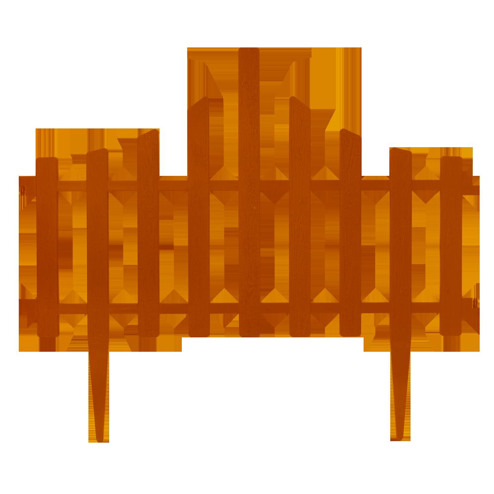 """Набор ограждение для газона """"Заборчик"""" (4в1) терракотовый"""