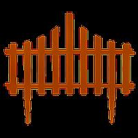 """Набір огорожі для газону """"Заборчик"""" (4в1) теракотовий"""