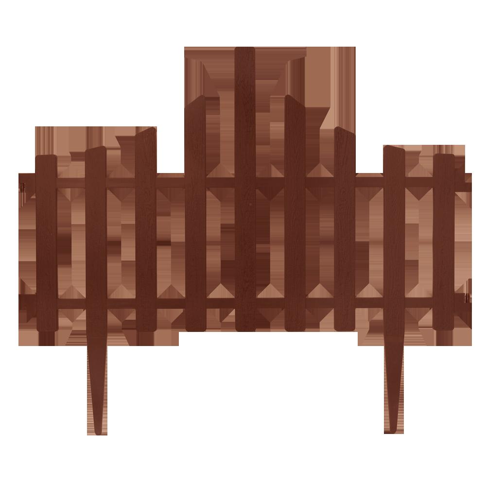 """Набір огорожі для газону """"Заборчик"""" (4в1) темно-коричневий"""