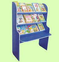 Стенка Библиотека Всезнайка для детсадов с полками для книг, методических и печатных материалов 100х40х120 см