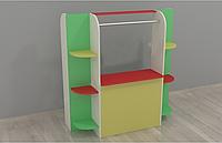 Игровая Стенка Кукольный театр для детсадов: мини-сцена с полками для хранения книг и игрушек 120х52х125 см
