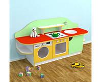 Игровая Стенка-Кухня Золушка для детских садов для сюжетных игр, с полками для хранения игрушек 160х43х80 см