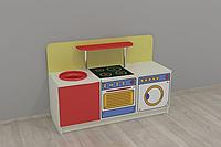 Игровая Стенка-Кухня Стандарт для детских садов для сюжетных игр, с зоной для хранения игрушек 120х42х80 см