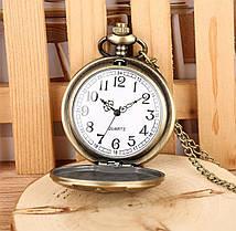 Кишенькові чорні чоловічі годинник на ланцюжку, фото 3