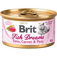 Влажный корм для кошек Brit Fish Dreams Tuna, Carrot & Peas 80 г