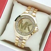 Жіночі наручні годинники Michael Kors золотого кольору, з камінчиками під склом і на браслеті - код 1992, фото 1