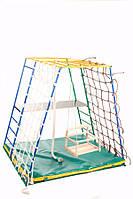 Детский спортивный Комплекс-уголок для малышей для дома и улицы: качели, горка, лестницы 135х115х130см 62186
