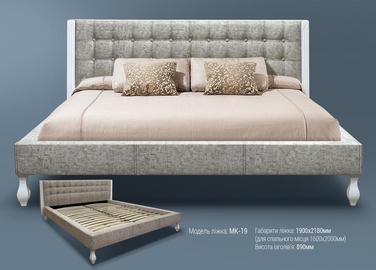 Мягкая кровать МК-19 MegaMebli
