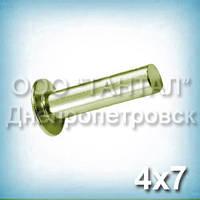 Заклепка Ø4х7 дюралюмінієва ГОСТ 10303-80, DIN 7338А з циліндричною (плоскої) головкою