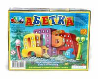 Кубики с украинским алфавитом, 12шт.