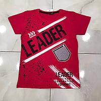 Подростковая футболка LEADER для мальчиков 7-14 лет,цвет уточняйте при заказе, фото 1
