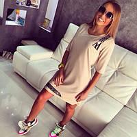 """Модное молодежное платье из плотного трикотажа """"Moschino"""""""