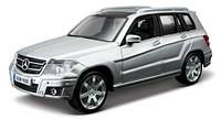 Автомодель   MERCEDES BENZ GLK CLASS ассорти, серебристый, 1:32 (18-43016)