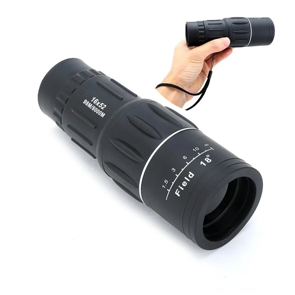 Монокуляр 16х52 и двойным фокусом Подзорная труба Оптический монокль влагозащищенный 8000 м