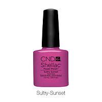 CND Shellac Sultry Sunset / малина с перламутром, 7,3 мл