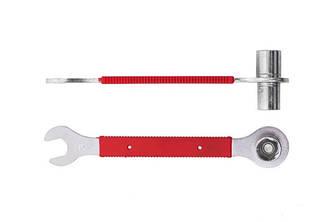 Ключ педальный KENLI торцевой ключ на 14 и 15, а также рожковый на 15 с прорезиненной ручкой