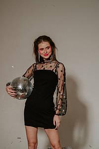 """Нарядное облегающее платье-мини """"Глэдис"""" с сеткой"""