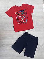 """Детский костюм футболка+шорты """"SUMMER BOY"""" для мальчика от 9 мес-3 лет,цвет уточняйте при заказе, фото 1"""