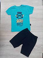 """Детский костюм футболка+шорты """"SECRET"""" для мальчика от 9 мес-3 лет,цвет уточняйте при заказе, фото 1"""