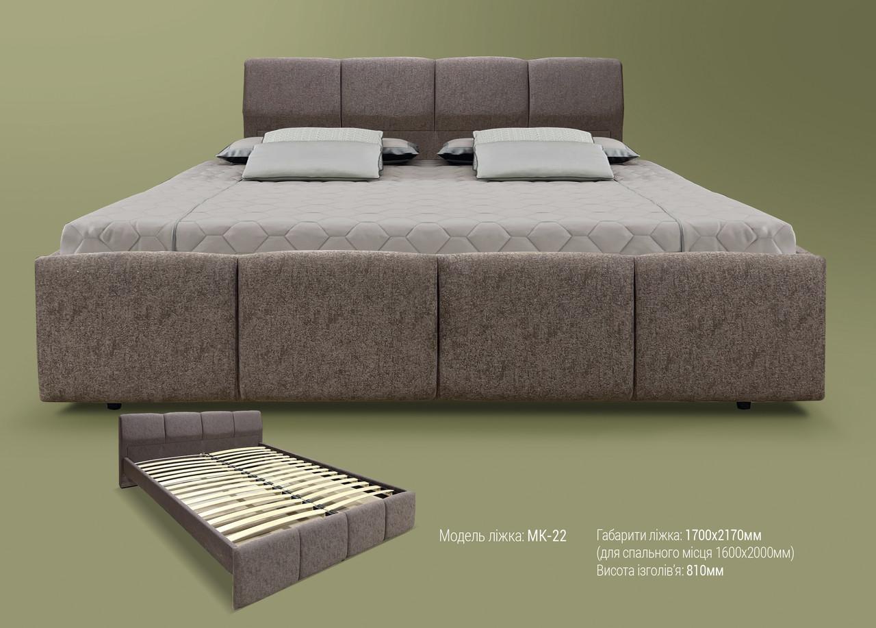 Мягкая кровать МК-22 MegaMebli