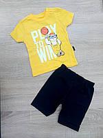 """Детский костюм футболка+шорты """"PLAY"""" для мальчика от 9 мес-3 лет,цвет уточняйте при заказе, фото 1"""