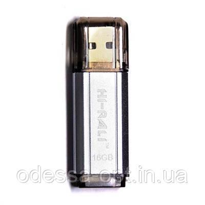 Накопичувач USB 16GB Hi-Rali Stark серiя срібло, фото 2