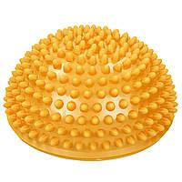 Массажная полусфера-ежик для ног Балансировочная подушка Zelart Диаметр 16 см BALANCE KIT Оранжевый (FI-0830)