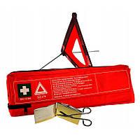 Аптечка автомобильная Profiauto DIN-13164 Евростандарт + Знак аварийной остановки