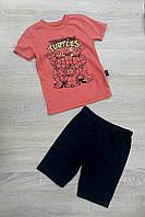 """Дитячий костюм футболка+шорти """"TURTLES"""" для хлопчика від 9 міс-3 років,колір уточнюйте при замовленні, фото 1"""