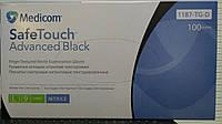 Перчатки нитриловые черные L, 100шт/уп