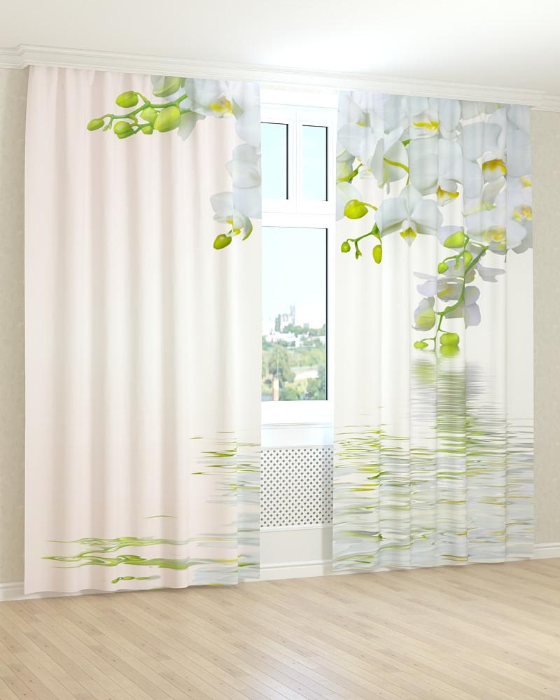 Фото штори орхідея у воді