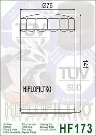 ФИЛЬТР МАСЛЯНЫЙ HIFLO HF173С хромированный., фото 2