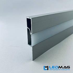 Плинтус для светодиодной ленты 60х10 мм 2,5 метра. Плинтус под светодиодную ленту