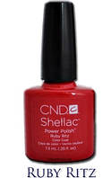 CND Shellac Ruby Ritz/ красный с красным шиммером, 7,3 мл