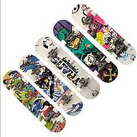 Скейт деревянный скейтборд канадский клён + метал + НАЖДАК
