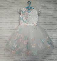Дитяча сукня для дівчинки Метелик 3-4 року, білого кольору, фото 1