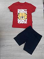 """Детский костюм футболка+шорты """"DONT KNOW"""" для мальчика от 9 мес-3 лет,цвет уточняйте при заказе, фото 1"""