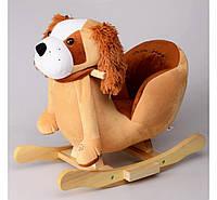 Детское кресло качалка с музыкой (кресло-качалка пёсик) 55 см IS3