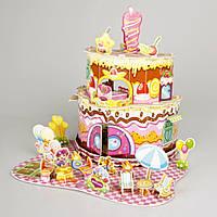 Детский 3D пазл дома в виде торта IE11
