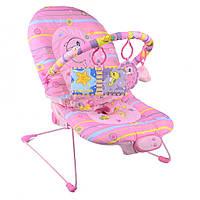 Детское музыкальное кресло (Розовый дельфин) IK75