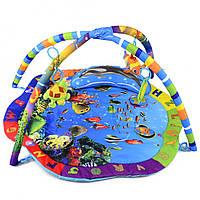 Детский развивающий музыкальный коврик (Подводный мир океана) IK71