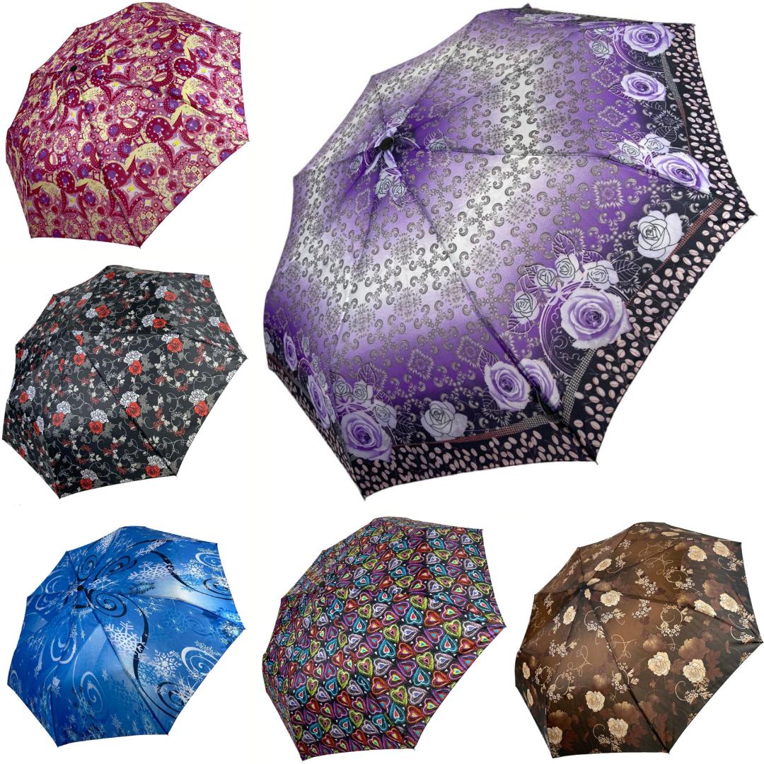 """Женский зонтик """"SL"""", красочный и практичный полуавтомат на 8 спиц, 310Е"""