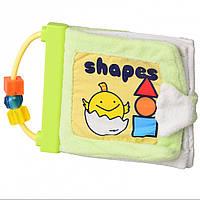Мягкая игрушка книжка для малышей с формами  15 см IK63