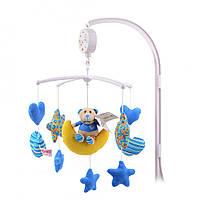 Детский музыкальный мобиль звездный мишка (синий) IK60