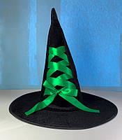 Шляпа колпак Ведьмочка с зеленой лентой