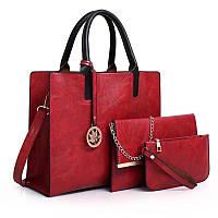 Женский стильный набор сумок 3 в 1, фото 1