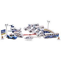 Игровой набор техника и самолет со звуком (Аэропорт) IM382
